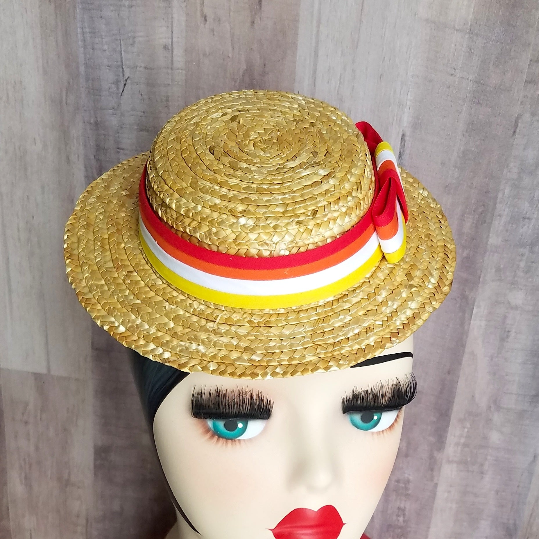 ... Bert Mary Poppins Jolly Holiday Mini Straw Hat Fascinator for Dapper  Day e5d463a6d8a