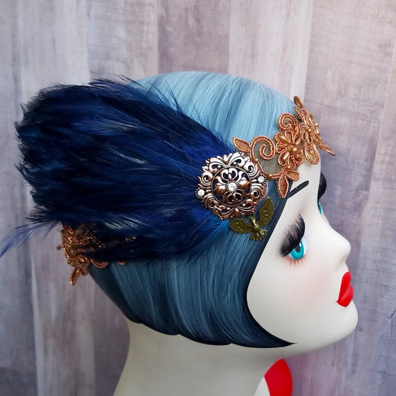Flapper Inspired Headpiece in Eagle House Colors