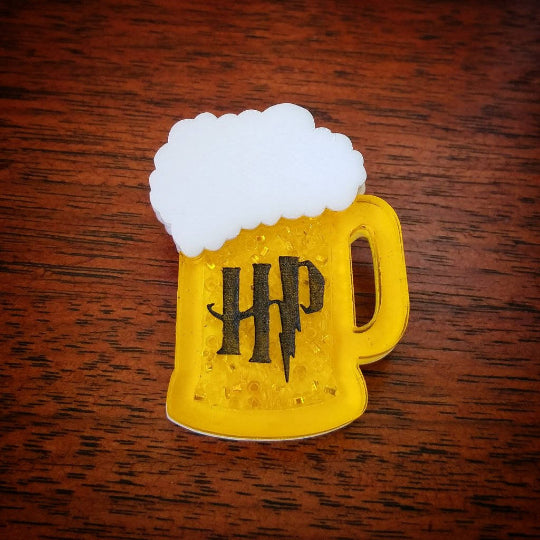 Harry Potter Butterbeer mug brooch.