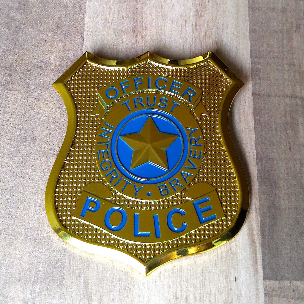 Gold Judy Hopps Zootopia police badge brooch for cosplay, costume or disneybound.