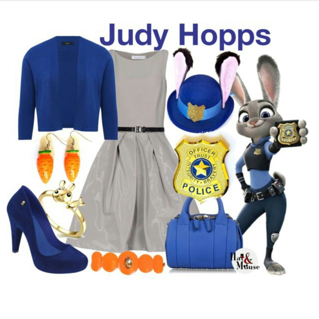 Police Bunny Ears Mini Hat