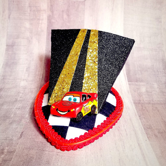 Lightning mcqueen light up fascinator hat for carsland or radiator springs disney dapper day disneybound.