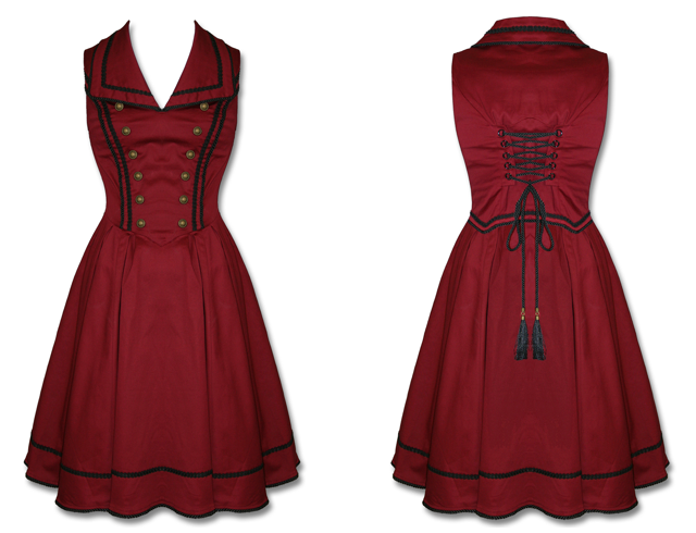 Pinup style Tower of tower bellhop dress and hat set for dapper day or disneybound.