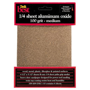 Do-It-Best (DIB_359009) 100 Grit 1/4 Sheet Sandpaper