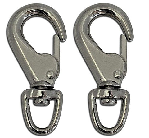 "Lucky Line Tough Links 3-1/16"" Utility Spring Hook, 2 per Package (A6242)"