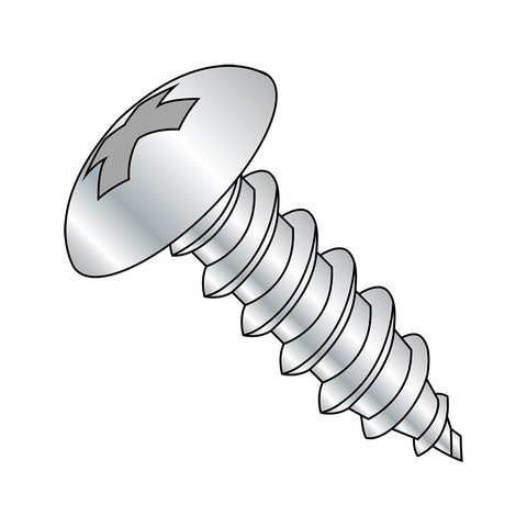 "Steel Sheet Metal Screw, Zinc Plated, Truss Head, Phillips Drive, Type A, #6-18 Thread Size, 3/4"" Length (Pack of 100)"