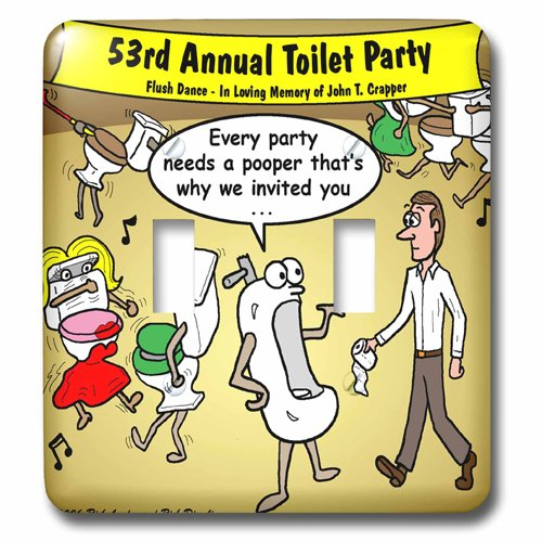 Light Switch Plate (LSP_3045_2) Party Pooper Double Toggle Switch