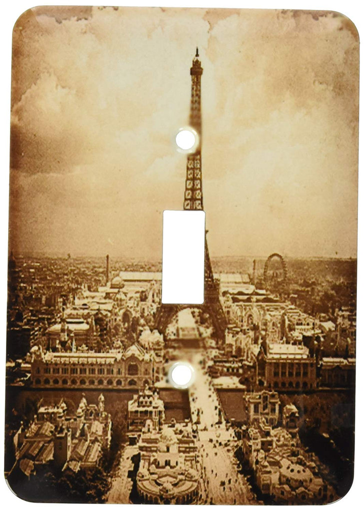 Light Switch Plate (LSP_77454_1) The Paris Exposition 1900 Eiffel Tower Sepia