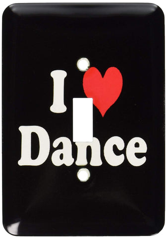 Light Switch Plate (LSP_16539_1) I Love Dance