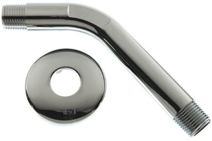 Danco 89078 6 in. Shower Arm & Flange Chrome Plated