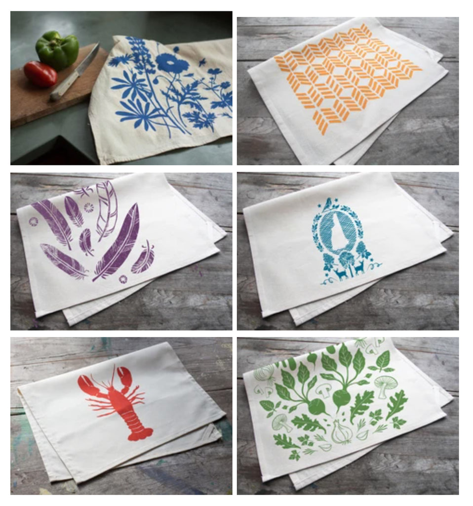 Set of Three Cotton Tea Towels
