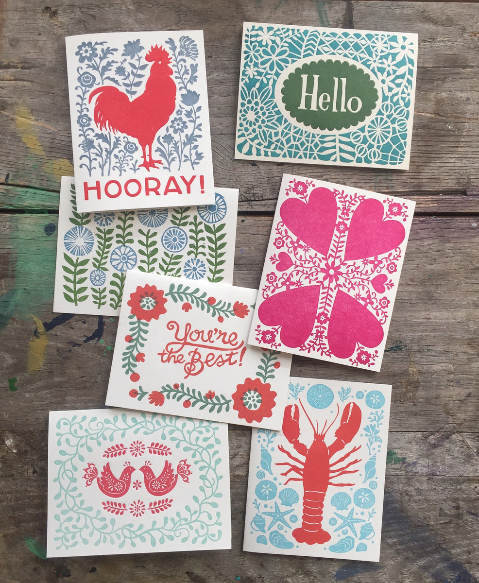 letterpress greeting cards  morris and essex