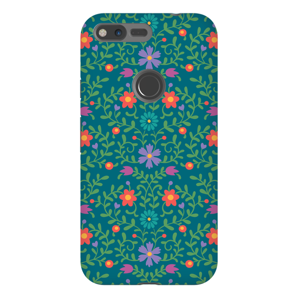 Tough Phone Case - Green Wallpaper Pattern