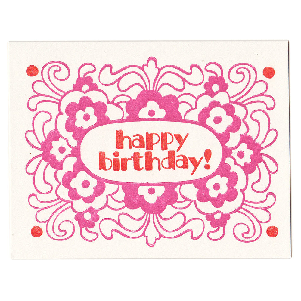 Wholesale - Birthday Flowers card, blank inside
