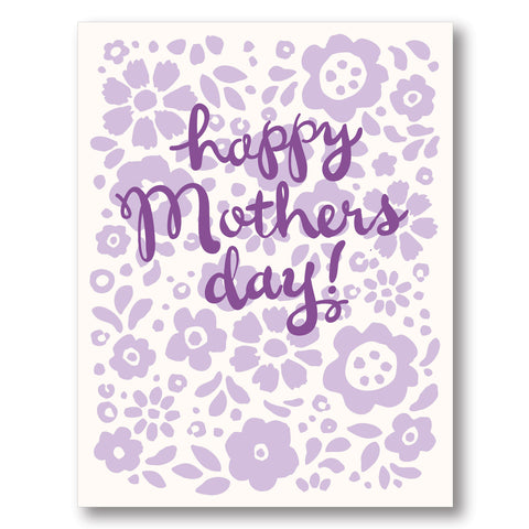 SOLD OUT - Mother's Day Flowers card, blank inside
