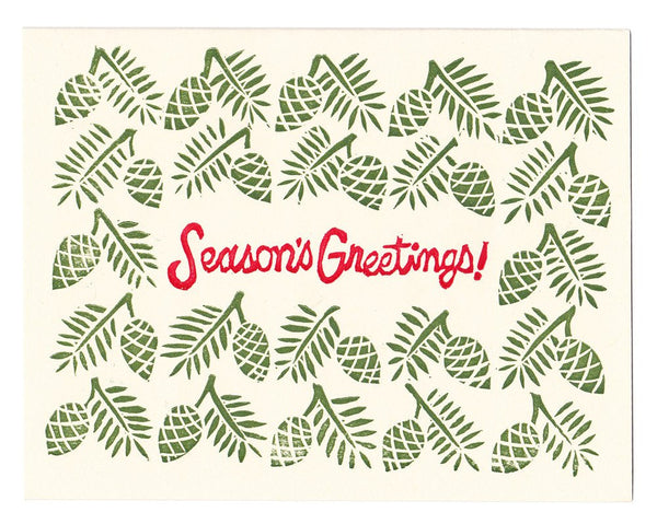 Letterpress Holiday Cards, set of 12, blank inside - special price!