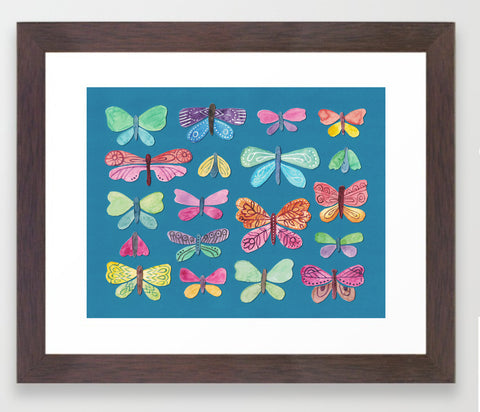 Butterfly Pattern Framed Print