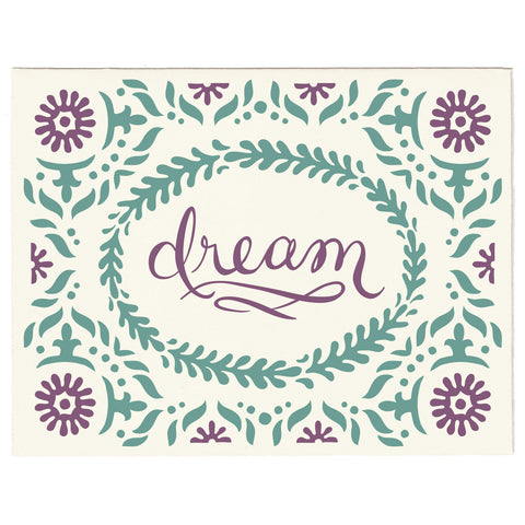 Dream letterpress greeting card, blank inside