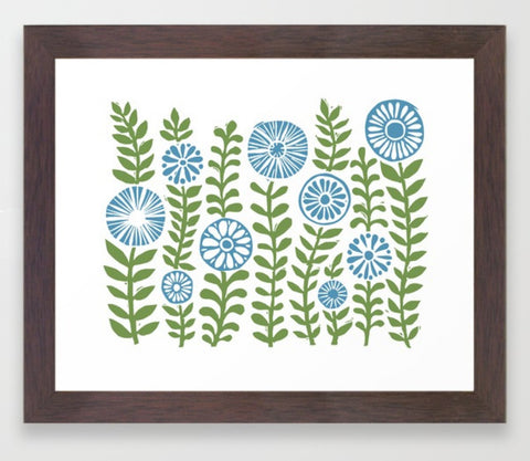 Green Gardens Framed Print