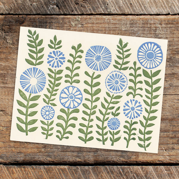 Green Gardens letterpress greeting card