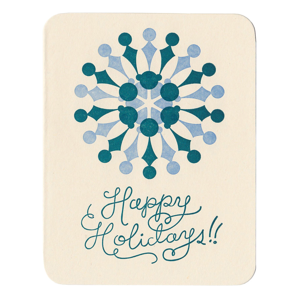 Wholesale - Happy Holidays greeting card, blank inside - MEGC-0050/MEGC-0051