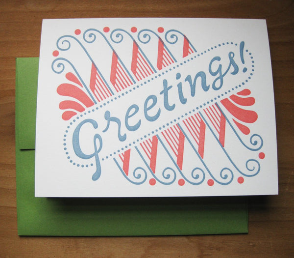 Greetings card, blank inside