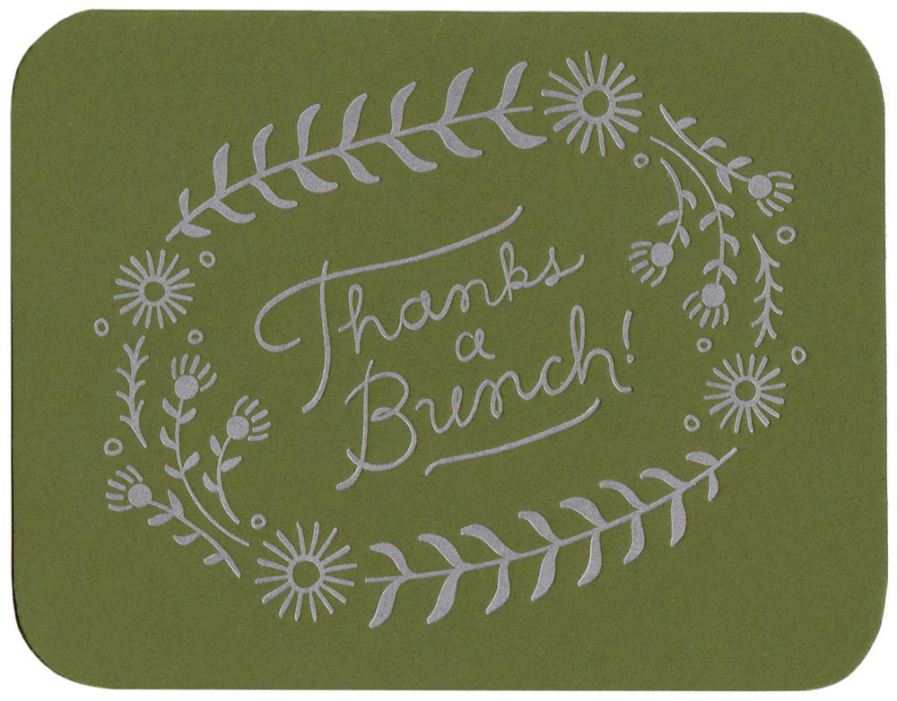 Wholesale - Thanks a Bunch greeting card, blank inside - MEGC-0048