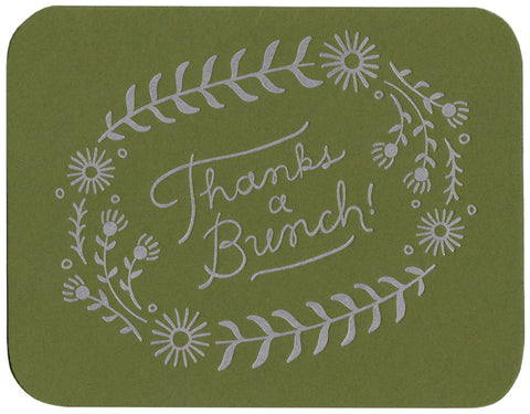 Thanks a Bunch greeting card, blank inside