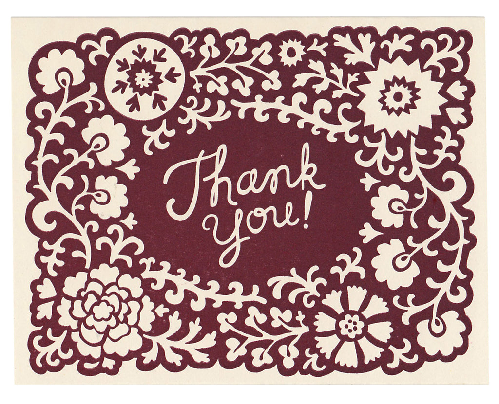 Wholesale - Opulent Thank You card, blank inside