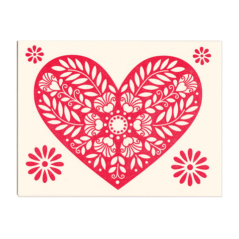 Mon Coeur greeting card, blank inside