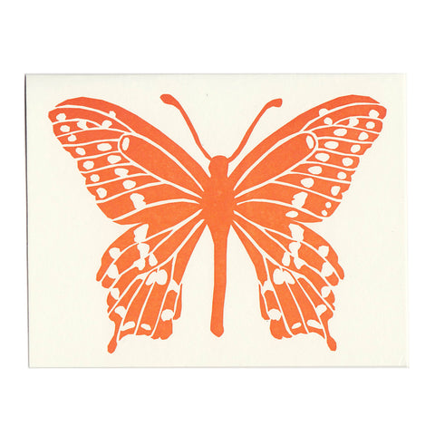 Wholesale - Orange Butterfly greeting card, blank inside