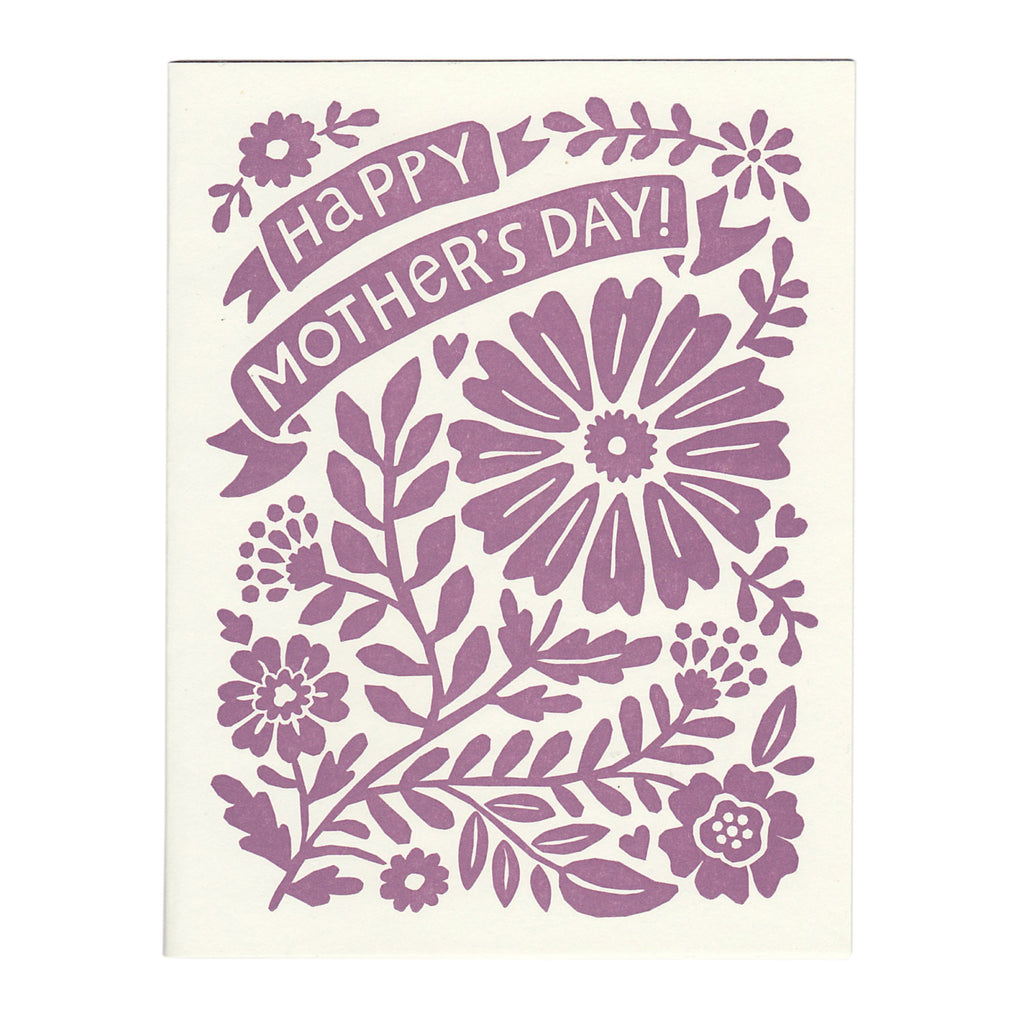 Happy Mother's Day card, blank inside,