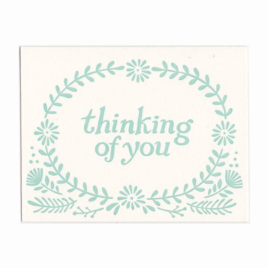 Thinking of You greeting card, blank inside