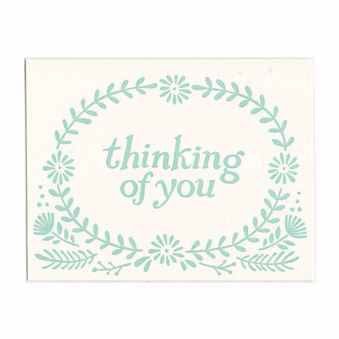 Wholesale - Thinking of You greeting card, blank inside