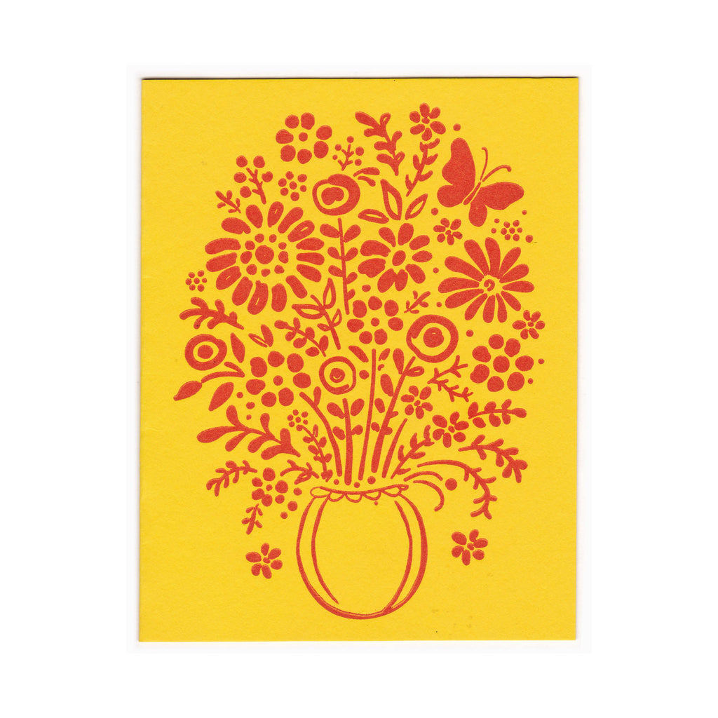Buncha Flowers greeting card, blank inside