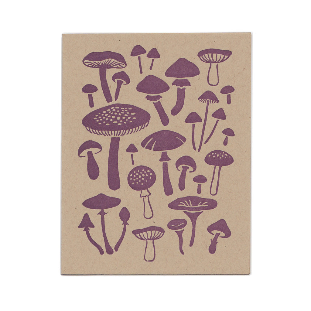 Wholesale - Mushroom greeting card, blank inside. MEGC-0126 / MEGC-0127
