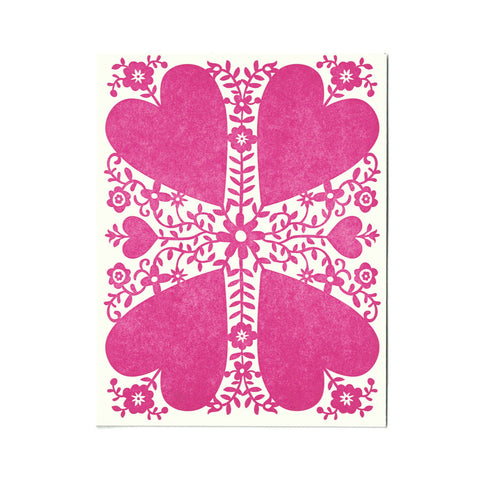 Wholesale - Viney Valentine greeting card, blank inside