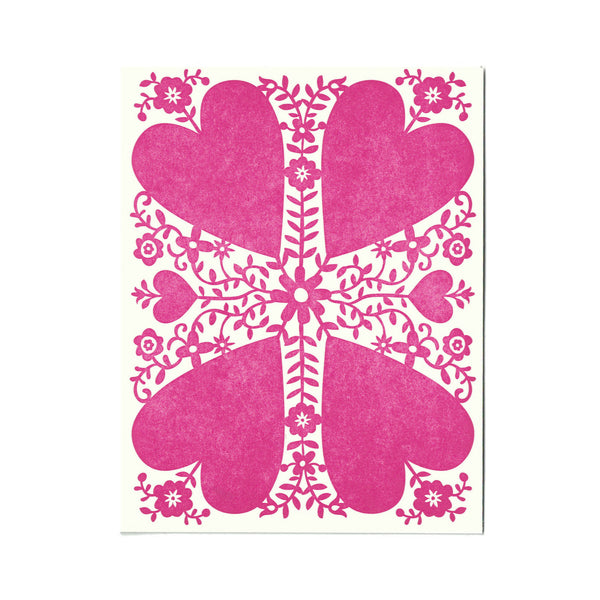 Viney Valentine greeting card, blank inside