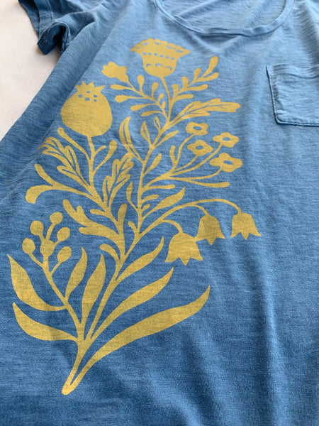 Blue Meadow Flowers Tee