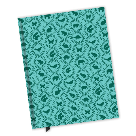 Blank Lined Journal - Animal Vines Pattern