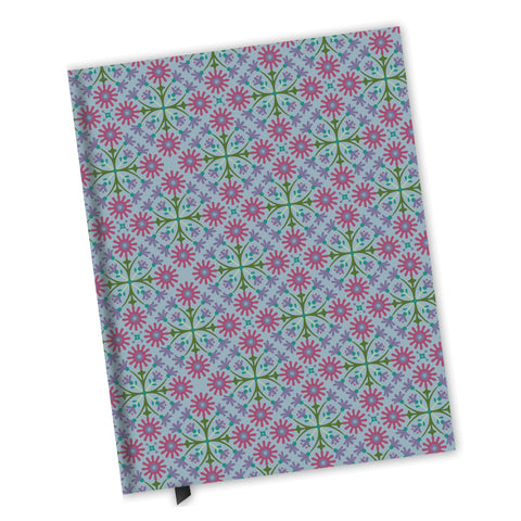 Blank Lined Journal - Azulejos Pattern