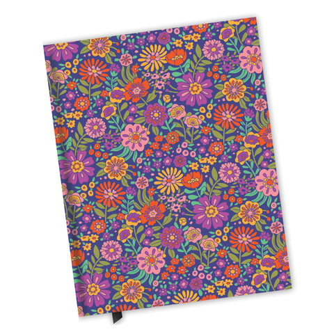 Blank Lined Journal - Vintage Flower Land Pattern