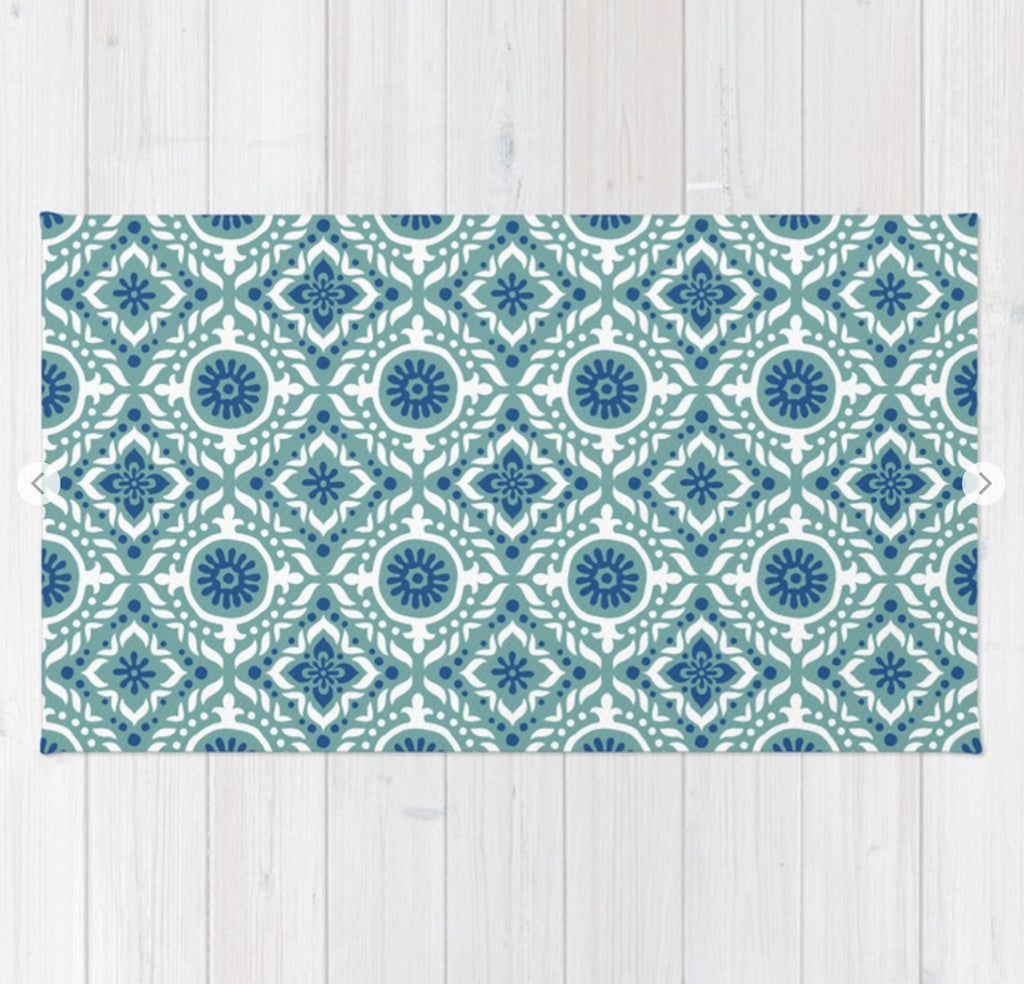 Poolside Tile Pattern Rug