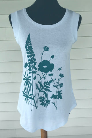 Wildflowers Tee in Sky Blue
