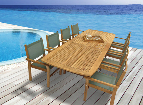 Family Expansion Table Royal Teak Collection Outdoor Dining Sets