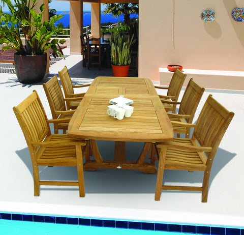 Compass Dining Set Royal Teak Collection