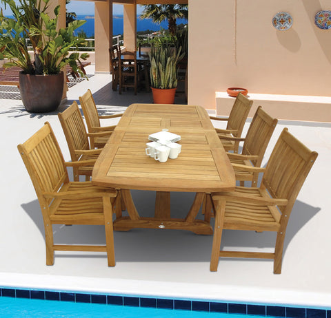 Royal Teak Collection Gala Expansion Outdoor Dining Set