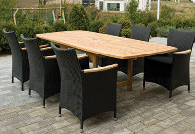 Royal Teak Collection Family Expansion Outdoor Dining Set