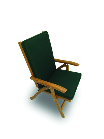 Estate Dining Chair Green Cushion Royal Teak Collection