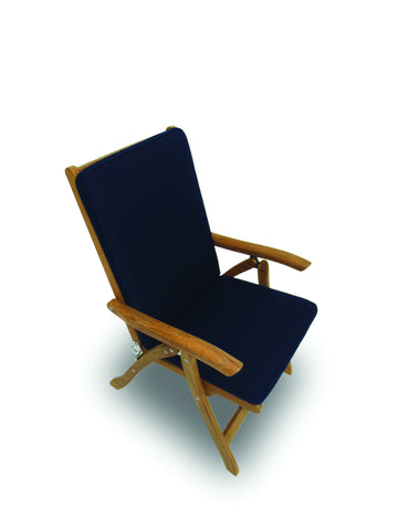 Estate Dining Chair Navy Cushion Royal Teak Collection